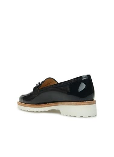 Divarese 5024258 Zincir Bantlı Kadın Deri Ayakkabı Lacivert